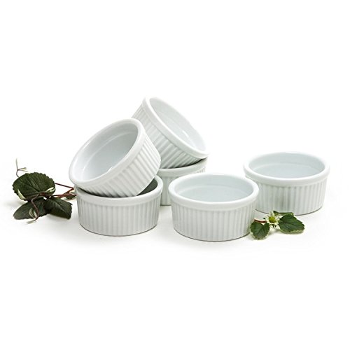 Norpro 4oz/120ml Porcelain Ramekins, Set of 6 - Microwave Safe Porcelain Salt And Pepper Set