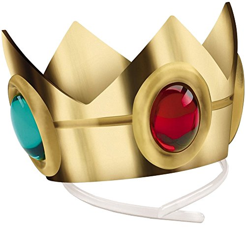 [Disguise Women's Nintendo Super Mario Bros.Princess Peach Crown Costume Accessory, Gold/Red/Green, One Size] (Crown Costumes)