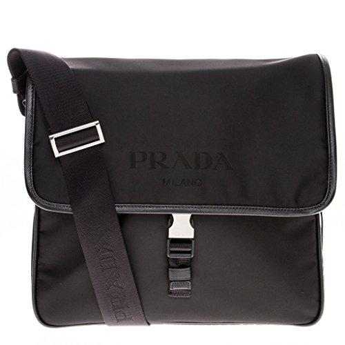 - Prada Nylon Messenger Bag with Steel Hardware