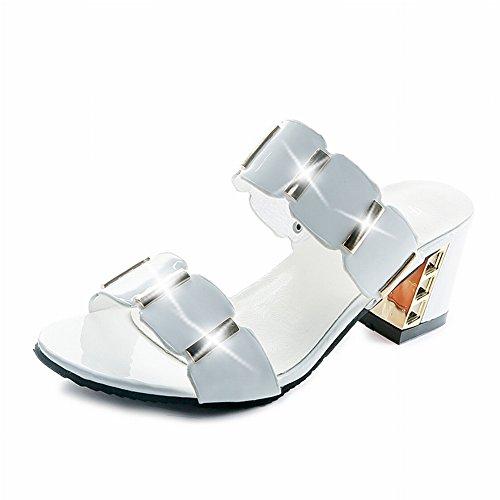 YTTY Di Pantofole Sandali Sandali bianca Media Femminili Dimensioni Pesce 41 e e Bocca 43 Grandi Femmina BHxarnFBUw