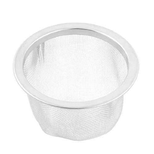 Feuilles Mesh Tea Stainer Teapot filtre 2,5 pouces Dimeter ton argent (Pot Feuille Et)