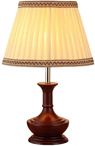 Lámpara de mesa de madera de estilo chino Luz de mesita de noche ...