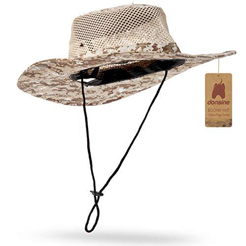 78054d21 Donsine Sun Hat for Men/Women, Outdoor Sun Protection Wide Brim Fishing Hat  Waterproof Breathable Packable Boonie Hat