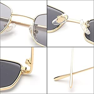 Sunglasses for Women Men Small Metal Frame Square Clear Candy Color Lens Glasses