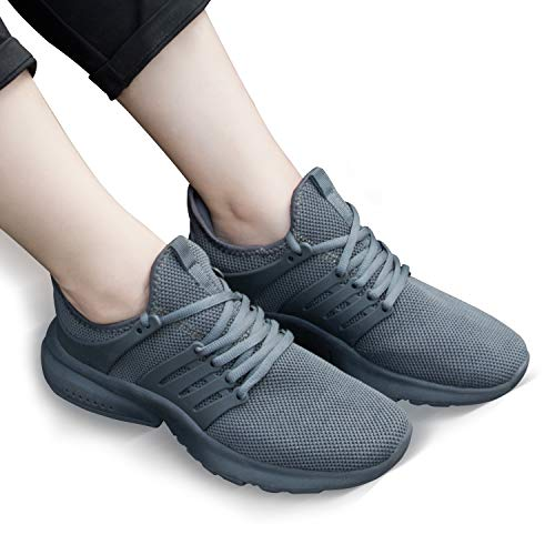 Gray Breathable On Water Shoes Women's Slip Mesh Walking Casual Gray Feetmat SqnZwaAz5