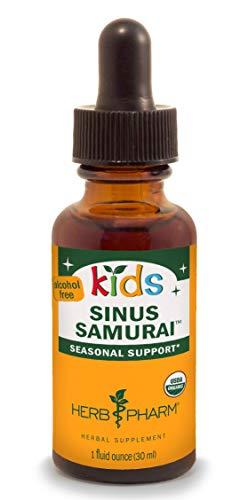 Herb Pharm Kids Certified-Organic Alcohol-Free Sinus Samurai Liquid Herbal Formula, 1 Ounce (Eyebright Herb Organic Alcohol)