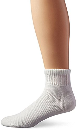 Davido Diabetic Mens Socks ankle / quarter made in Italy 100% cotton 6 pairs (13-15, white)