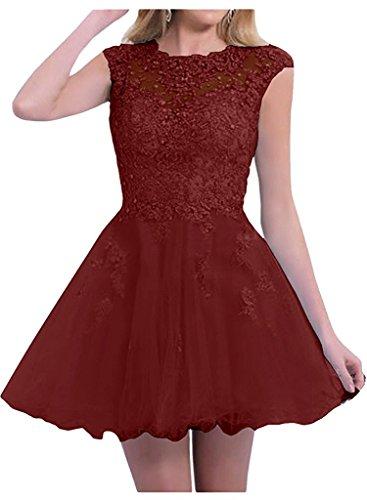 La Burgundy Partykleider Abschlussballkleider Abendkleider Kurzes Tanzenkleider Festlichkleider Damen Marie Braut qWwrvq1R