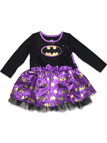 Warner Bros. Batgirl Toddler Girls' Costume Dress with Cape, Purple 2T]()