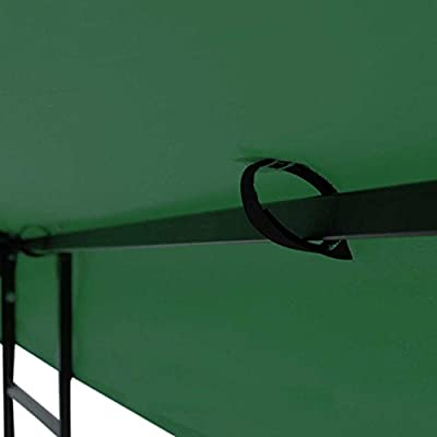 Heavy Duty Green Poly Fabric 10x10 Square Feet Garden Canopy Gazebo Replacement Vented Top 2-tier UV Protect Waterproof for Outdoor Patio Lawn Sun Shade Tent: Garden & Outdoor