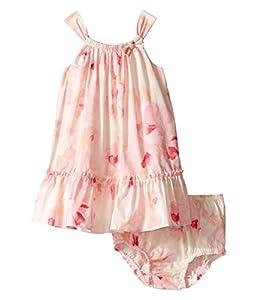 kate spade york Baby Girls' Bow Neck Ruffle Dress Set