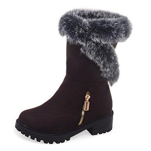 Decostain Comfort Winter Snow Warm Soft Mid Calf Boots Brown qtfvSd