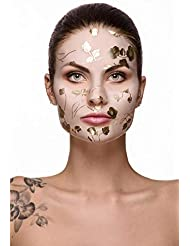 Fast Beauty Co. Clarity Face! 1 Detoxifying Gold Floral Sheet Mask With Charcoal & Rosemary