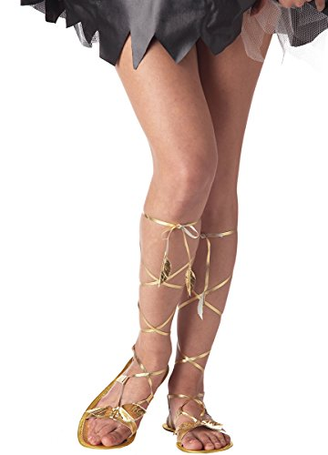 California Costumes Women's Goddess Sandal,Gold,Small Costume Accessory (Greek Goddess Sandals)