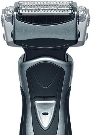 Batería Señor afeitadora Sistema de afeitado Barba Maquinilla de Afeitar 3 capas cortador de pelo largo (Medio de ...