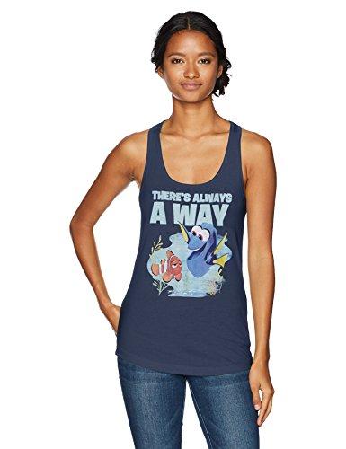 Disney Womens Pixar Finding Dory Always A Way Racerback Graphic Tank Top