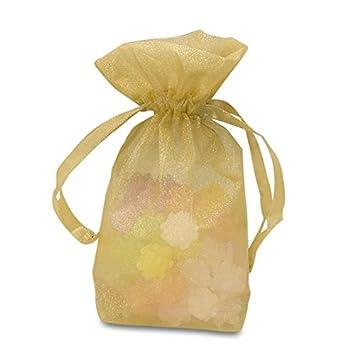 Amazon.com: Oro vidrio bolsas de Organza pura | Cantidad: 30 ...