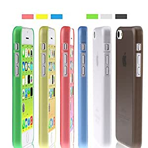 Solid Color Ultra-thin Grind Arenaceous Back Case for iPhone 5C(Assorted Color) --- COLOR:Red