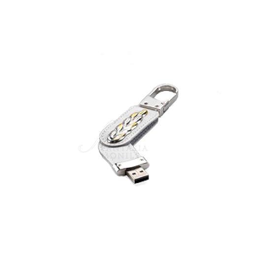 Llavero mosquetón logo Comunión con penndrive USB 8 GB Plata ...