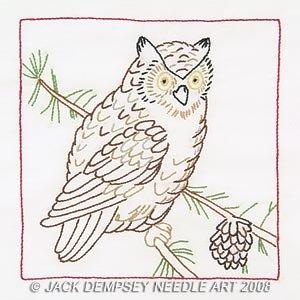 Jack Dempsey Stamped White Quilt Blocks 9