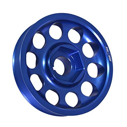 (Fit Acura/Honda (K20 / K24 Engines Only) Aluminum Underdrive Crankshaft Crank Pulley Wheel Blue)