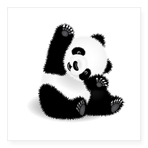 CafePress Panda Sticker Square Bumper