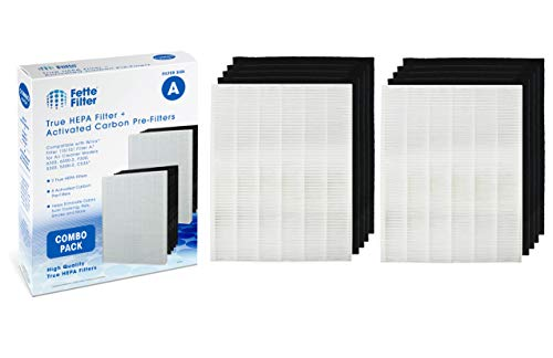 Fette Filter 2-Pack of True HEPA Plus 4 Carbon Replacement Filters Compatible with Winix Filter A 115115 Size 21 PlasmaWave air Purifier 5300 6300 5300-2 6300-2 P300 C535