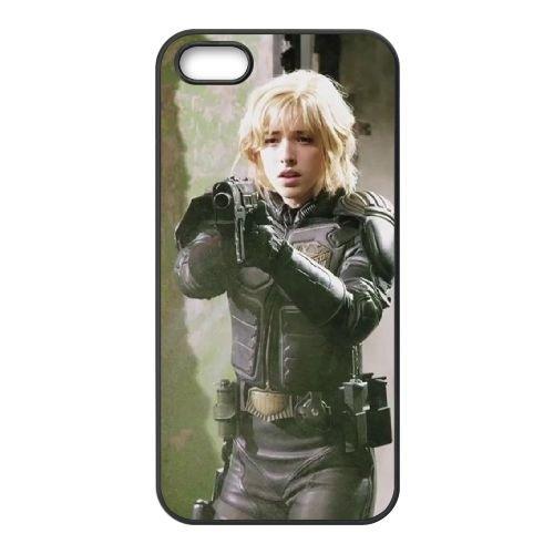 Dredd 1 coque iPhone 5 5S cellulaire cas coque de téléphone cas téléphone cellulaire noir couvercle EOKXLLNCD23352