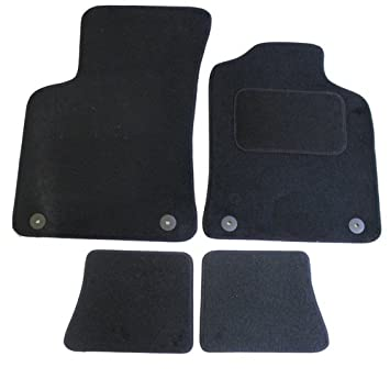 Fully Tailored Car Mat Set with 4 Clips - 4 Pieces, Black JVL 1019