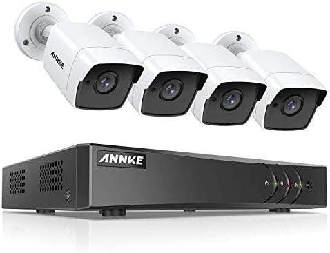 ANNKE 8-Channel 4K DVR CCTV Camera System and 4 5MP 2592 x 1920 HD Surveillance Bullet Camera