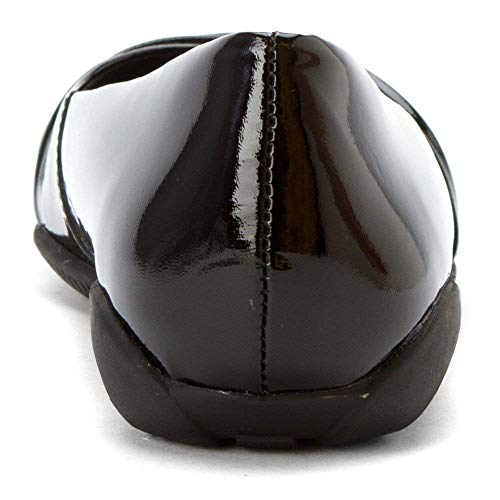 Leather Patent Walking Black Flick Cradles Donna Xqq4Zvw