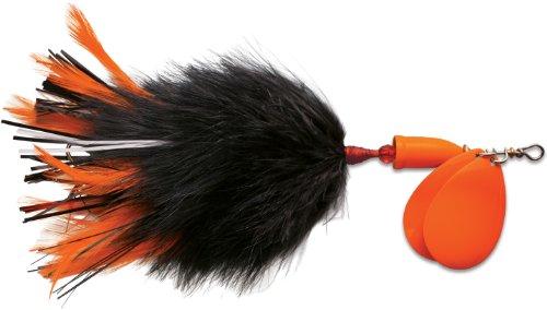 Blue Fox Vibrax Super Bou TW 8 Fishing Lure, Black Orange, 7-3/4-Inch