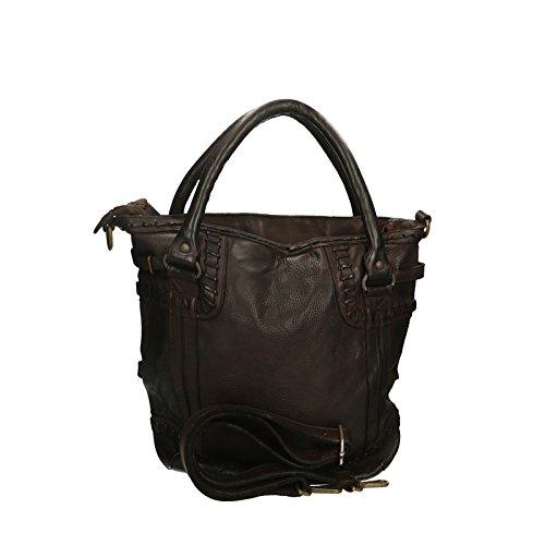100 33x37x10 Luxury Da Testa Leather In Borse Cm Edition A Genuine Moro Pelle Donna Chicca Vintage Spalla Borsa Vera Shoulder Bag BT6nq