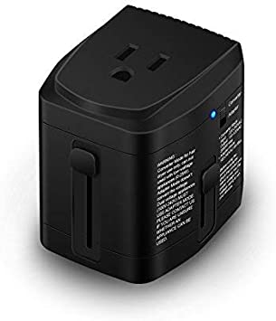 World Travel Plug Power Adapter and 2000 Watts Voltage Converter Combo Step Down 220V to 110V for Hair Dryer Kettle Laptop MacBook Cell Phone UL Test Pass US to UK AU Europe Over 150 Countries BONAZZA BON18Y