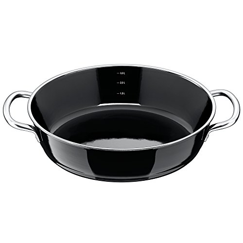 Silit Roasting Pan Uncoated Ø 28Cm Black Professional Made In Germany Inside Scale Pouring Rim Stainless Steel Handle Silargan Functional Ceramic Suitable For Induction Hobs Dishwasher-Safe by Silit