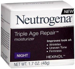 Neutrogena Triple Age Repair Moisturizer Night - 1.7 oz, Pack of 4