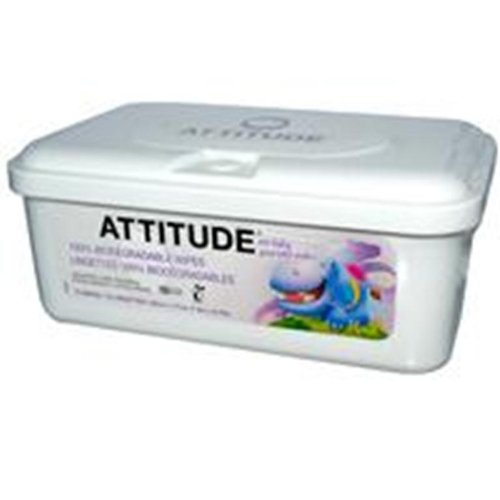 Attitude Eco Baby Wipes -- 72 Wipes
