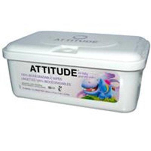 Attitude Eco Baby Wipes -- 72 Wipes