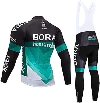 TIDH Automne et Hiver Veste Cyclisme Homme Maillot de Cyclisme /à Manches Longues et Pantalon Long de Bicyclette