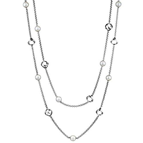 Di MODOLO Icona Pearl 42'' Necklace in Sterling Silver by Di MODOLO MILANO