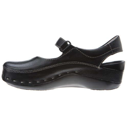 Comfort Black Wolky Leather Cloggy Strap Clogs Pebbled 06015 4wWaq6gU7
