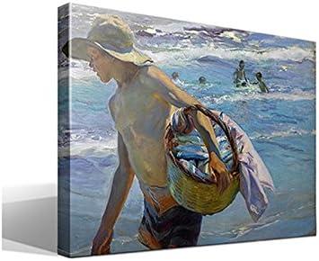cuadro canvas El Pescador de Joaquín Sorolla y Bastida - 55cm x 75cm