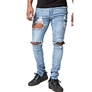 Men's Blue Ripped Jeans