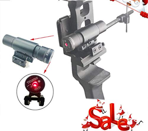 Compound Bow Archery Rifle Tactical Red Dot Laser Sight 50-100m Laser Range Adjustable 11-21mm Hunting Accessory