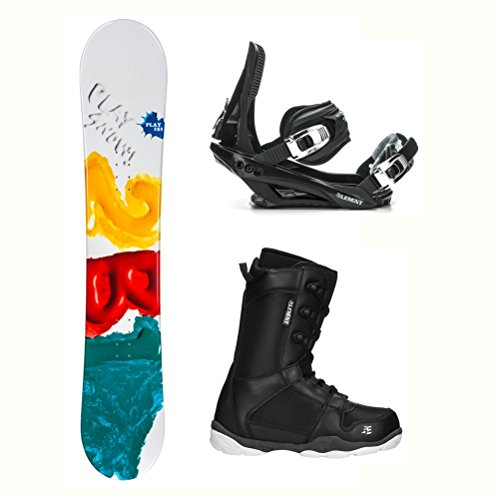 2B1 Play Green ST-1 Complete Snowboard Package - -