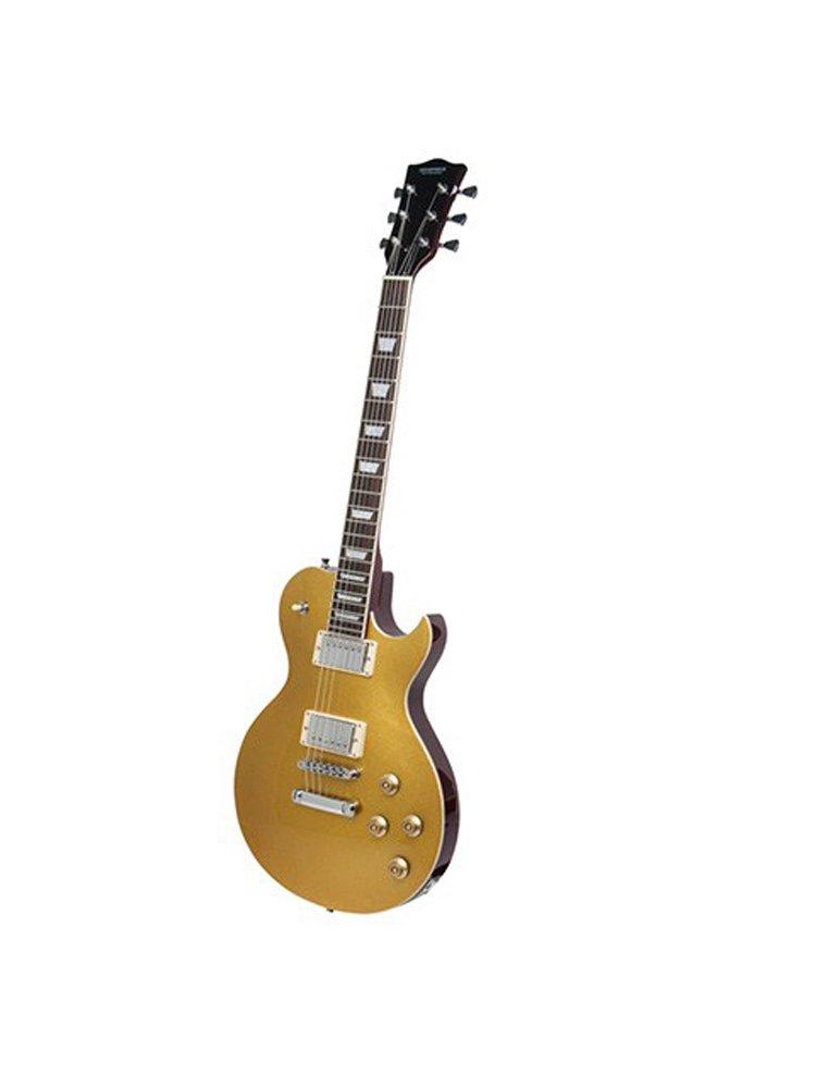 Monoprice 610212 ruta 66 moderno sólido cuerpo - Guitarra eléctrica, color gold top: Amazon.es: Instrumentos musicales