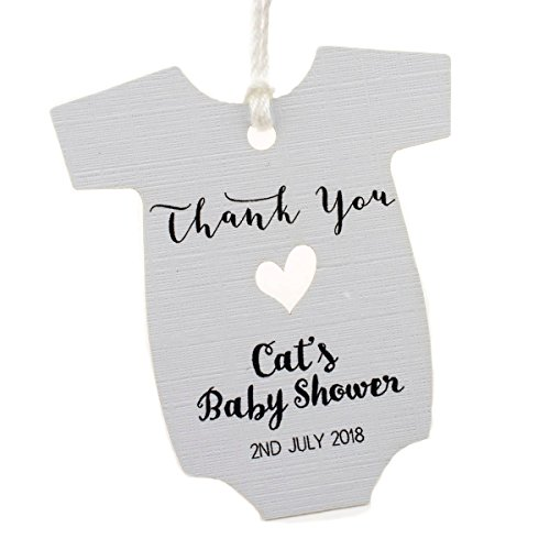 Summer-Ray 50pcs Personalized White Baby Onesie Baby Shower Favor (Baby Shower Personalized Favors)