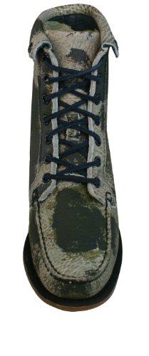 para Kowloon Sebago cuero zapatos Camuflaje mujer Botines de qfBptWXY