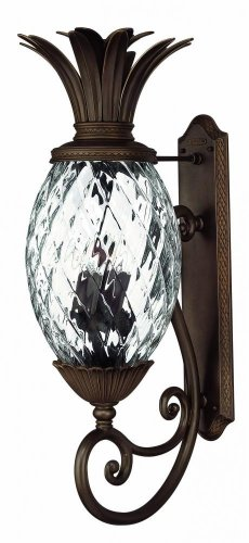 Hinkley 2225CB Tropical/British Colonial Four Light Wall Mount from Plantation collection in (Plantation Pineapple Wall)