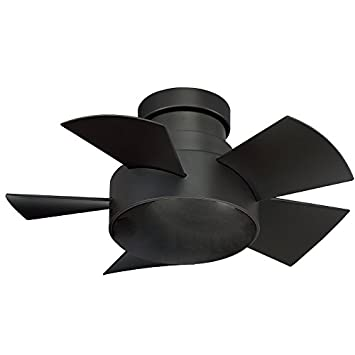 Modern Forms FH-W1802-26L-BZ Vox 26 Inch Five Blade Indoor Outdoor Smart Fan with Six Speed DC Motor and LED Light in Bronze Finish Works with Nest, Ecobee, Google Home and IOS Android App,